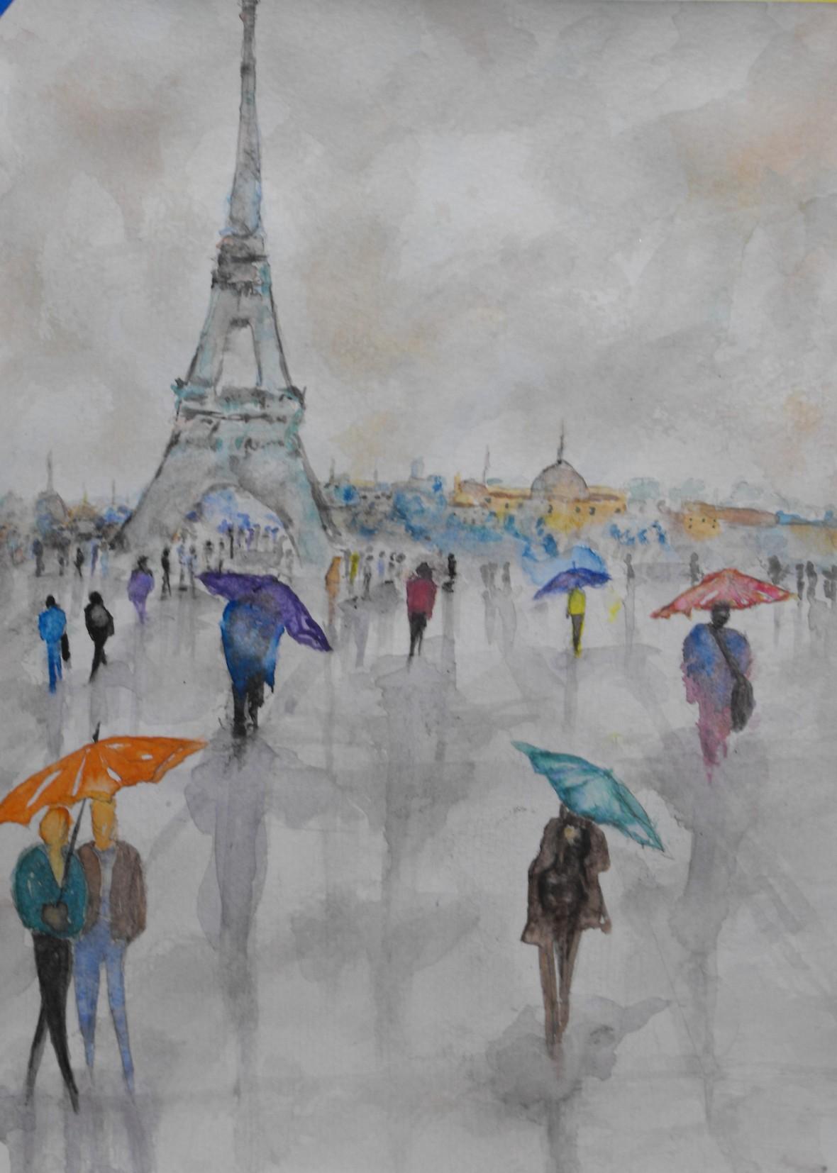 Title: Umbrellas, Price: $450 CDN,